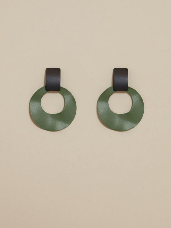 Геометричные серьги колор блок - фото 1