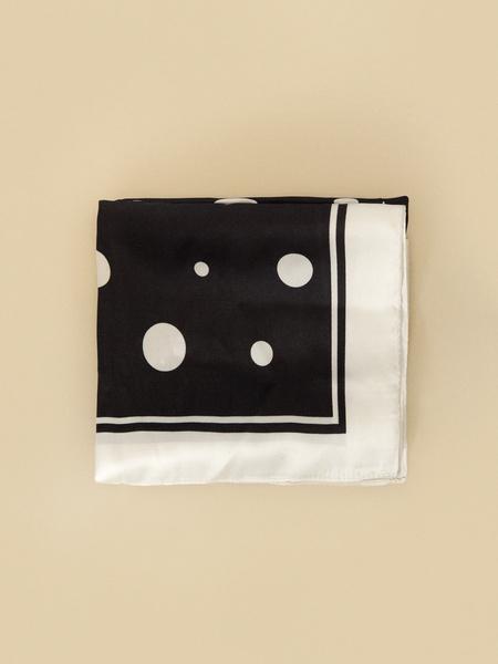Атласный платок в горох - фото 2