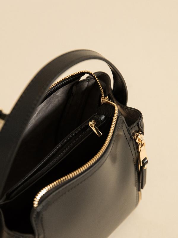 Фактурная сумка с молниями - фото 3