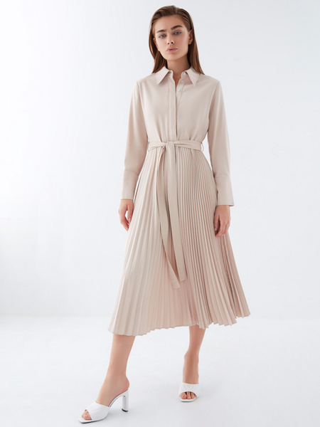 Платье с плиссированной юбкой - фото 11