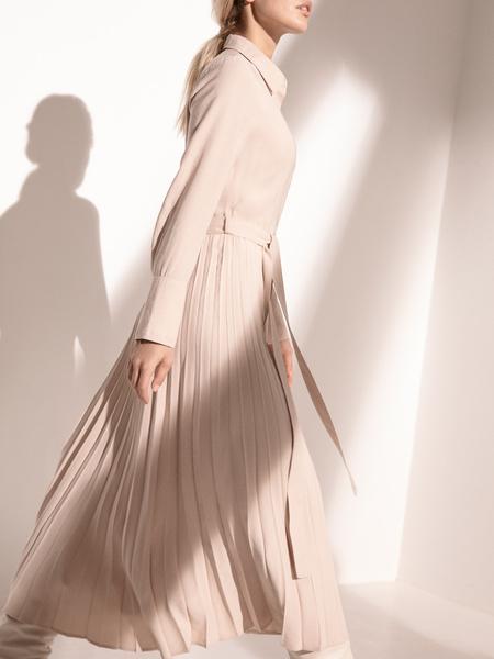 Платье с плиссированной юбкой - фото 6