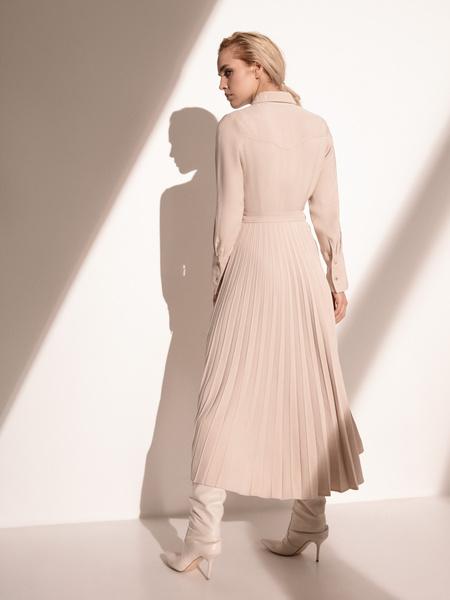 Платье с плиссированной юбкой - фото 9