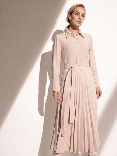 Платье с плиссированной юбкой - фото 10