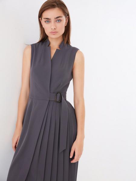 Платье с комбинированной юбкой - фото 1