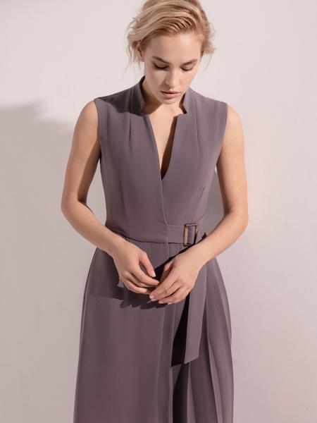 Платье с комбинированной юбкой - фото 4