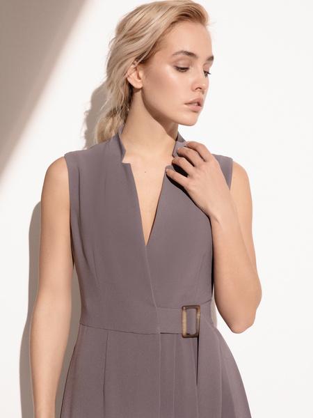 Платье с комбинированной юбкой - фото 5