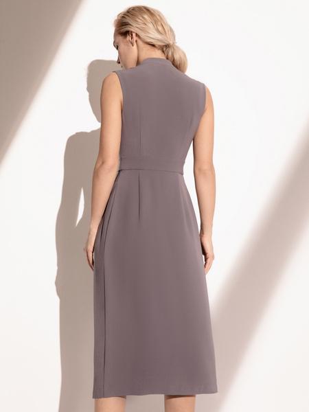 Платье с комбинированной юбкой - фото 7