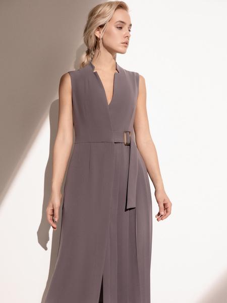 Платье с комбинированной юбкой - фото 9