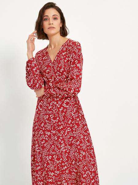 Платье-миди с воланом внизу - фото 2