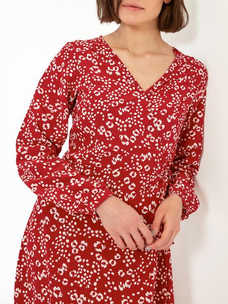 Платье-миди с воланом внизу - фото 4