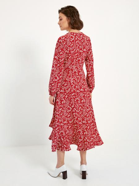Платье-миди с воланом внизу - фото 5