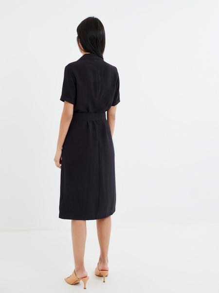 Платье-рубашка с поясом - фото 6