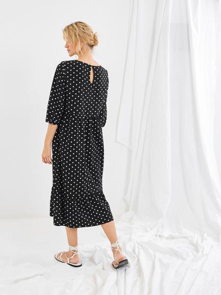 Платье-миди с воланом внизу - фото 3