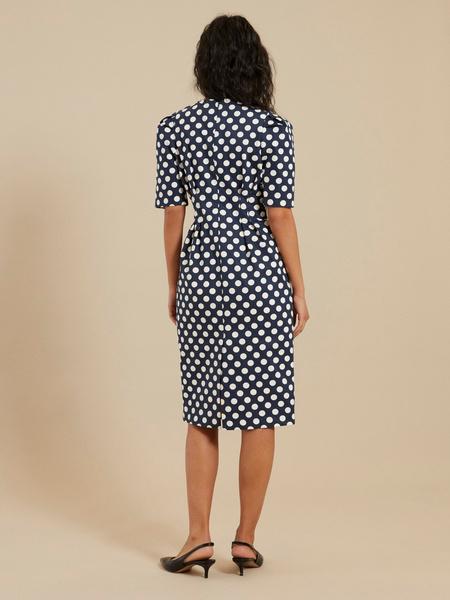 Платье-миди на запахе - фото 5