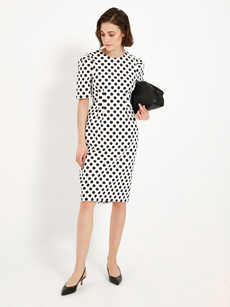 Платье-миди на запахе - фото 1