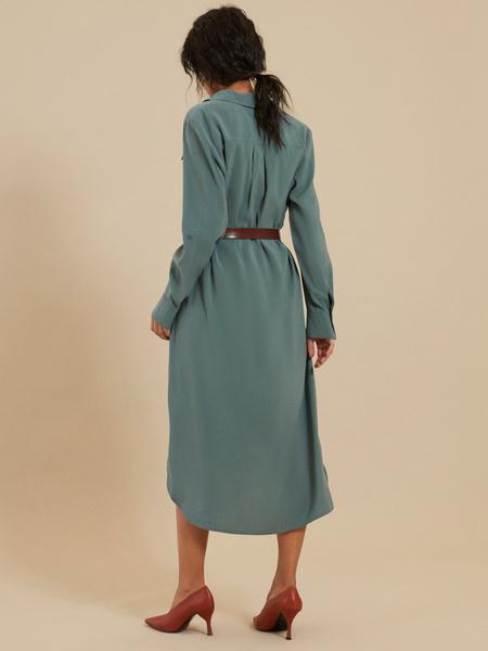 Платье-миди с поясом - фото 4