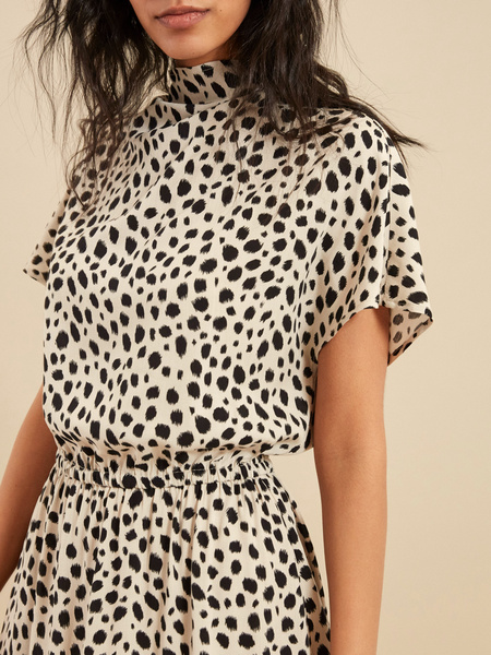 Платье-миди с эластичным поясом - фото 2