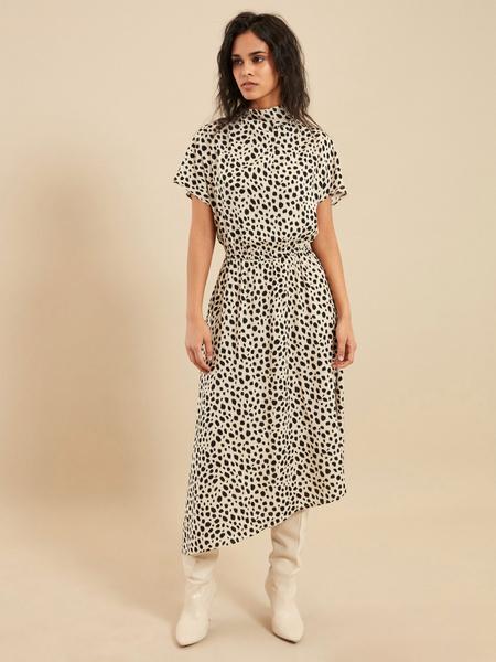 Платье-миди с эластичным поясом - фото 3