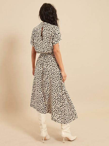 Платье-миди с эластичным поясом - фото 4