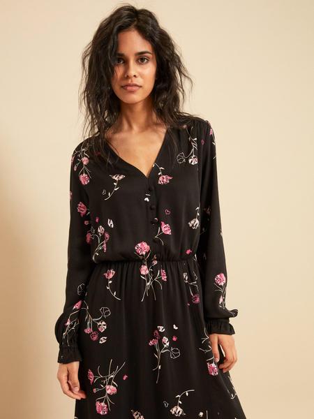 Платье-миди с разрезом - фото 4