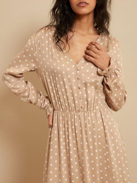 Платье-миди с разрезом - фото 3
