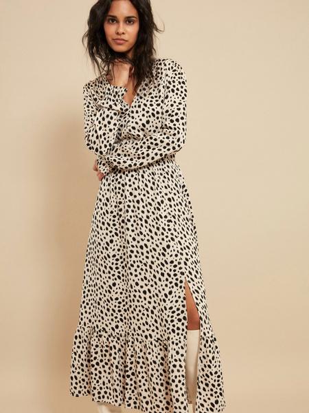 Платье-миди с разрезом - фото 1
