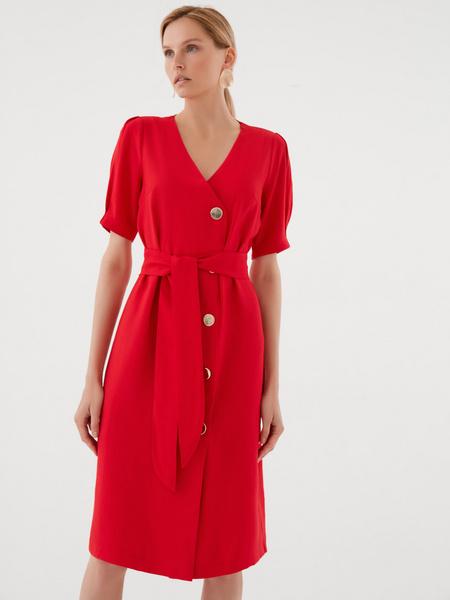 Платье-миди на пуговицах