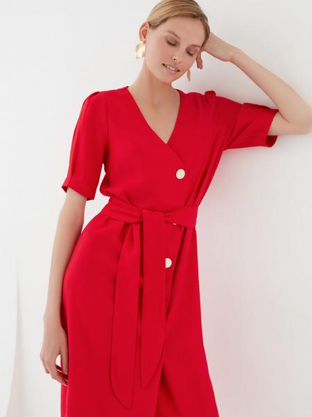 Платье-миди на пуговицах - фото 3