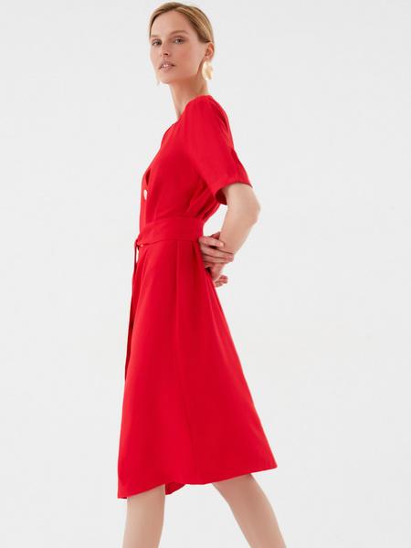 Платье-миди на пуговицах - фото 4