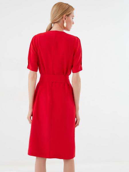 Платье-миди на пуговицах - фото 5