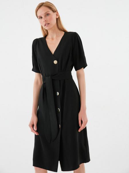 Платье-миди на пуговицах - фото 1