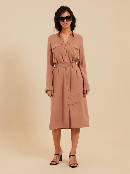 Платье-миди с поясом - фото 5