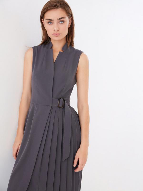 Платье с комбинированной юбкой