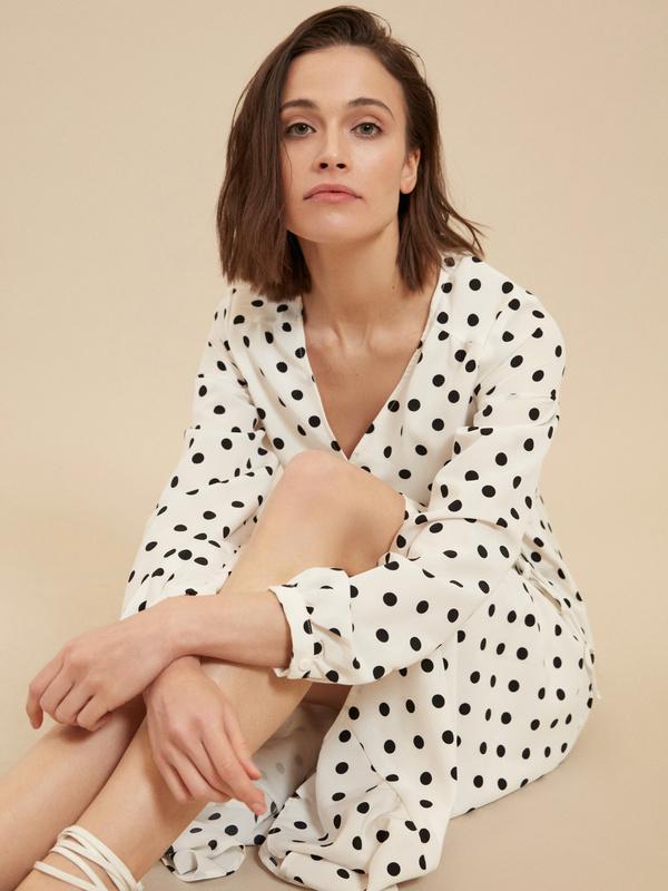 Платье с ассиметричным подолом - фото 6
