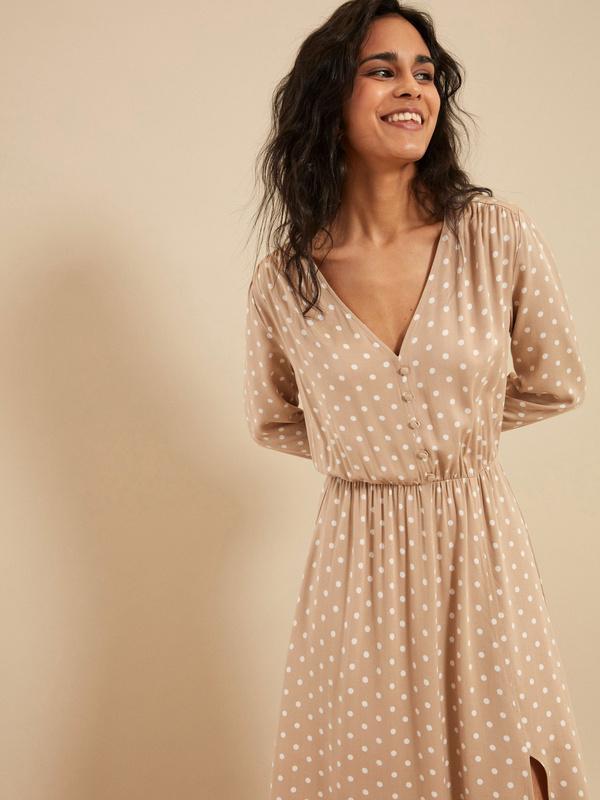 Платье-миди с разрезом - фото 2
