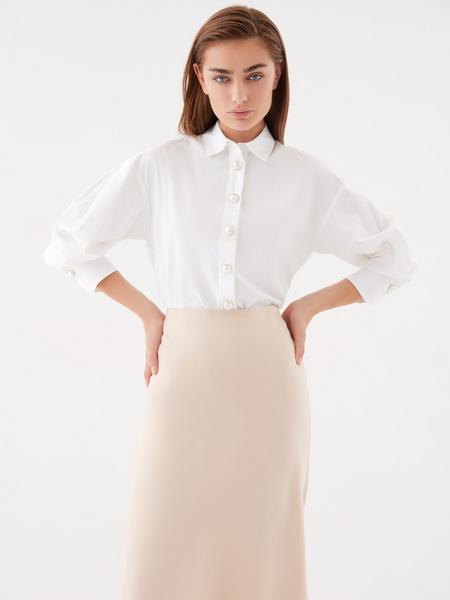 Блузка с широкими рукавами - фото 1