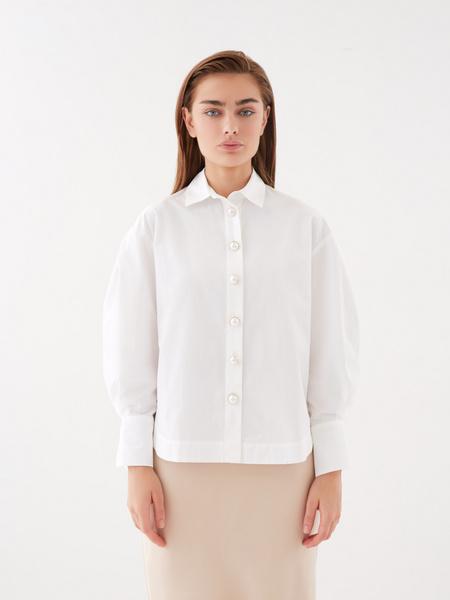 Блузка с широкими рукавами - фото 2
