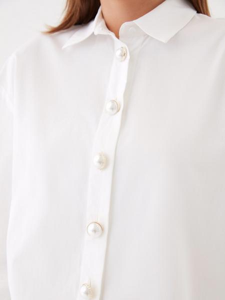 Блузка с широкими рукавами - фото 3