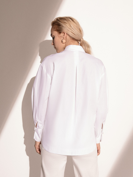 Блузка с широкими рукавами - фото 5