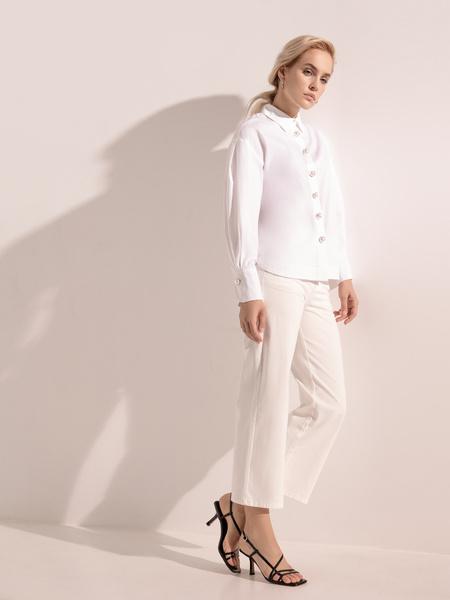Блузка с широкими рукавами - фото 7