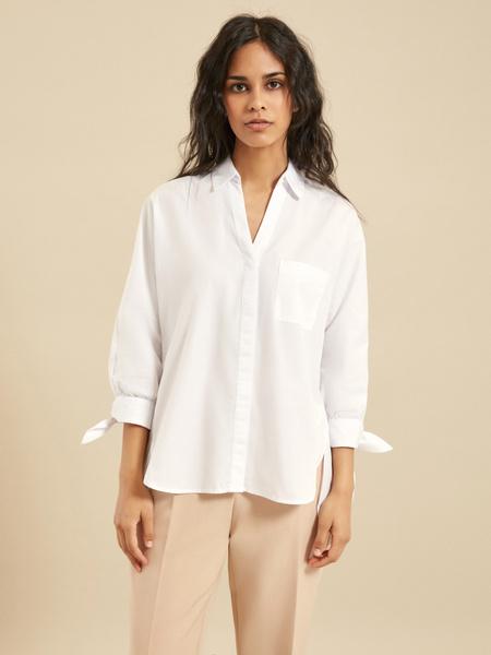 Блузка с рукавами на завязках - фото 2