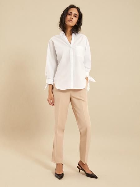 Блузка с рукавами на завязках - фото 5