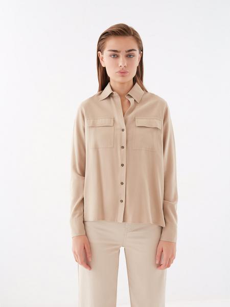 Блузка с накладными карманами - фото 8