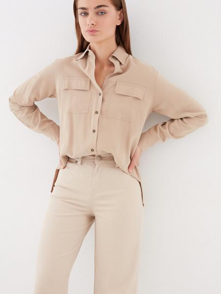 Блузка с накладными карманами - фото 9