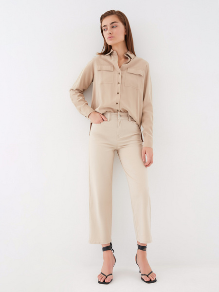 Блузка с накладными карманами - фото 10