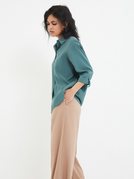 Блузка с рукавами трансформер - фото 6
