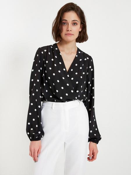 Блузка-боди с запáхом - фото 1