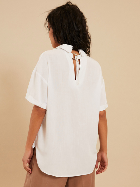 Блузка с завязками на спине - фото 4