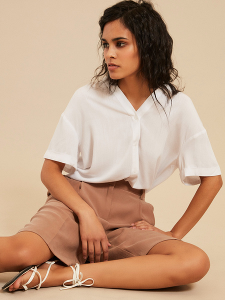 Блузка с завязками на спине - фото 5