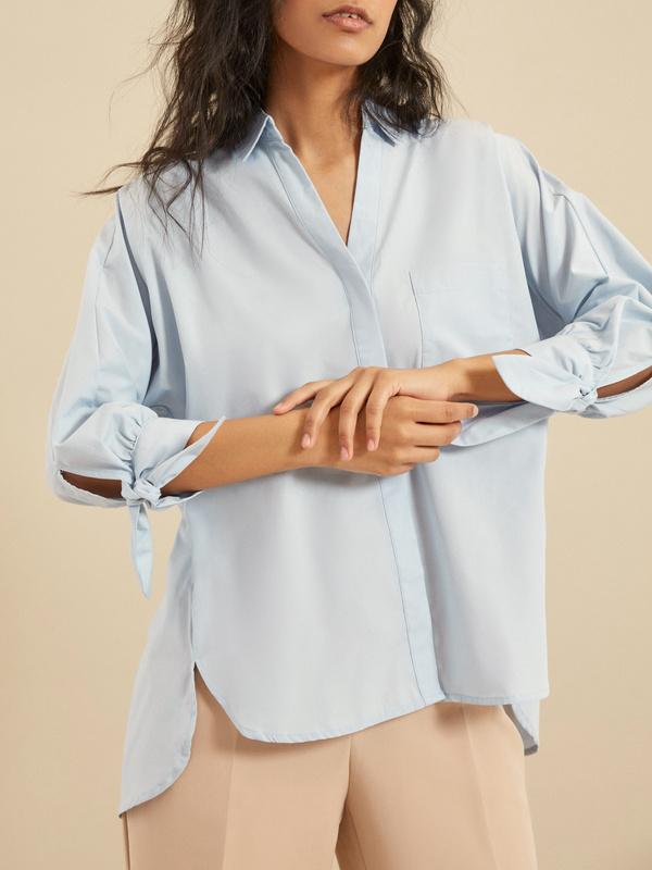 Блузка с рукавами на завязках - фото 3